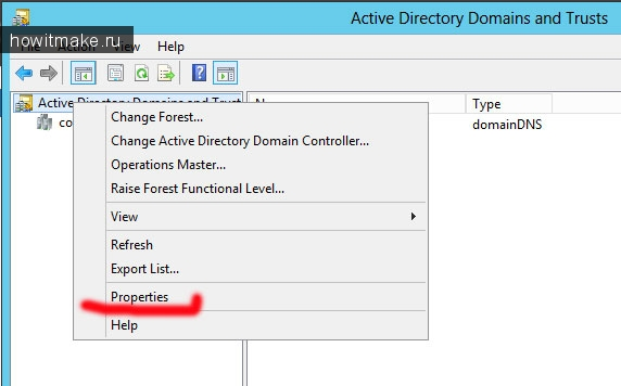 Active Directory Domains and Trusts (Windows Server 2012)